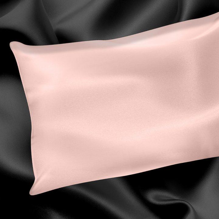Chaming Pink Silk Pillowcase