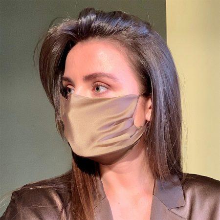 Silk Champagne Face mask